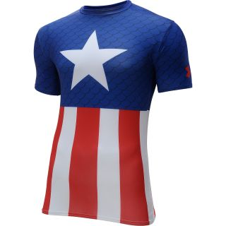 UNDER ARMOUR Mens Alter Ego Captain America Suit Short Sleeve Compression T