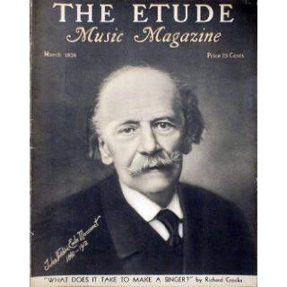 The Etude Music Magazine, March 1936: Editor James Francis Cooke: Books