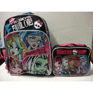 "Monster high large 16"" school backpack with lunch box Toys & Games"