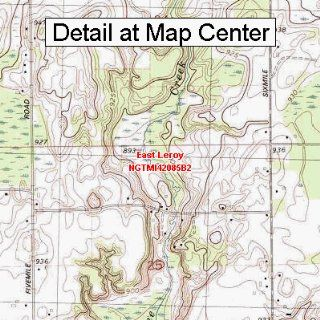 USGS Topographic Quadrangle Map   East Leroy, Michigan (Folded/Waterproof)  Outdoor Recreation Topographic Maps  Sports & Outdoors