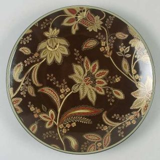 Jaclyn Smith Turkish Floral Brown Salad Plate, Fine China Dinnerware   Tradition