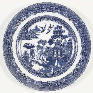 "Johnson Brothers Willow Blue (""England 1883"" Backstamp) Large Dinner Plate, Fine China Dinnerware: Kitchen & Dining"