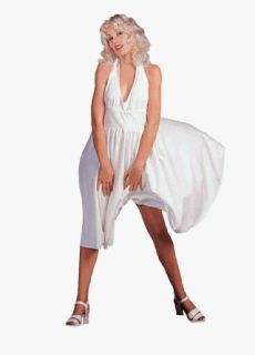 Adult Womens Marilyn Monroe Dress Costume (Size Standard 8 12) Clothing