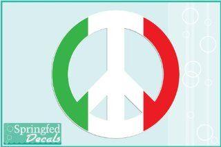 "Italian Flag Peace Sign 3"" Vinyl Decal Car Truck Window Sticker"