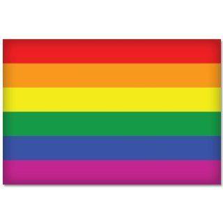 """GAY PRIDE Rainbow Flag car bumper sticker decal 5"""" x 4"""" Automotive"""