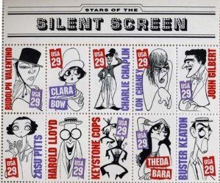 Silent Screen Stars Set of 10 x 29 Cent US Postage Stamp #2819 28