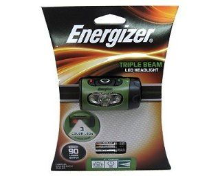 Energizer TrailFinder HD33A3CE Triple Beam Headlight. TRIPLE BEAM LED HEADLIGHT 3 LIGHT MODES   WHITE RED GREEN PERS. LED   AAA   Green Electronics