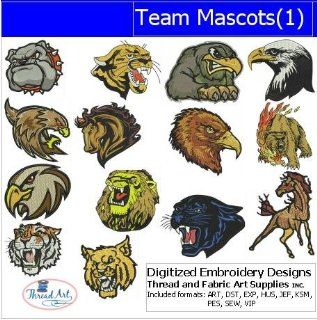 Digitized Embroidery Designs   Team Mascots(1)
