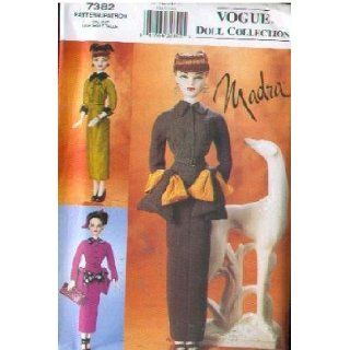 Vogue 7382   Madra Doll Clothing Patterns 1950   Patterns for 3 Dresses fo 16 Inch Doll (Vogue Doll Collection, Also sold as Vogue 742): Vogue Pattern Company: Books