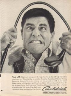 Jerry Lewis for Consolidated Paper ad 1961 Ladies Man Entertainment Collectibles