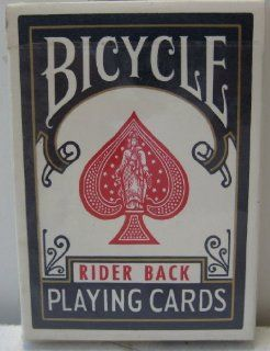 Bicycle Rider Back ( Poker 808 ) Playing Cards   Blue   Great for playing blackjack, poker, Texas hold'em, go fish, war, and other famous las vegas casino games