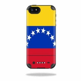MightySkins Protective Vinyl Skin Decal Cover for Mophie Juice Pack Air iPhone 5 Apple iPhone 5 Battery Case Sticker Skins Venezuela Flag: Cell Phones & Accessories