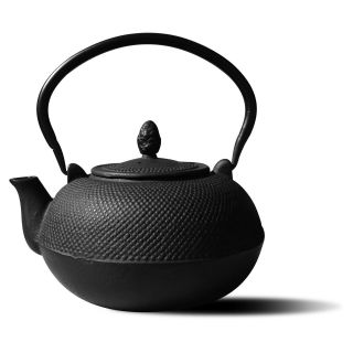 Old Dutch 3 lt. Cast Iron Hakone Teapot / Wood Stove Humidifier   Matte Black   Teapots