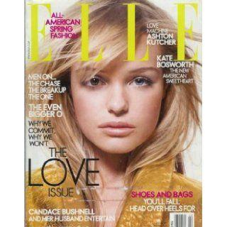 Elle Magazine February 2004 Kate Bosworth;Patrick Swayze;Candace Bushnell and Her Husband Entertain Elle Books