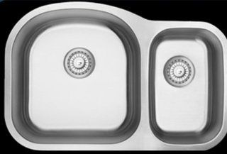 803M 70/30 Offset 18 Gauge Double Bowl 304 Surgical Stainles Steel Sink