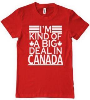 I'm Kind Of A Big Deal In Canada T Shirt Funny Retro Hockey TEE Humor Kinda Novelty T Shirts Clothing