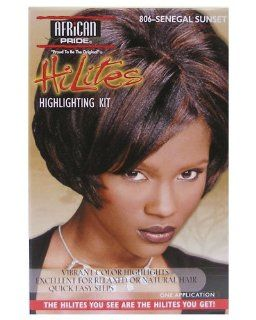 African Pride. HiLites Highlighting Kit: 806 Senegal Sunset : Hair Highlighting Products : Beauty