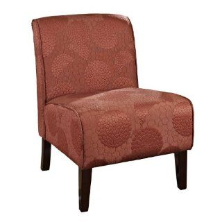 Linon Lily Canyon Burnt Orange Fabric Armless Chair   Coffee Tables