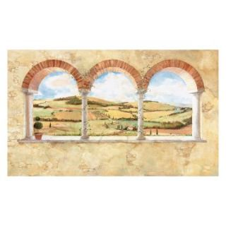 RoomMates Tuscan View Chair Rail Mural   Wallpaper