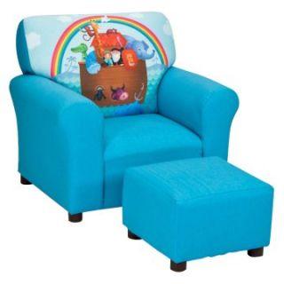 Kidz World Noahs Ark Club Chair and Ottoman Set   Chairs