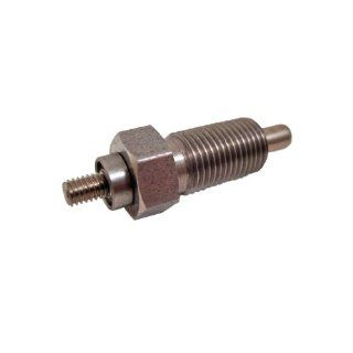 GN 817 NI Series Stainless Steel Non Lock out Type Indexing Plunger with Multiple Pin Lengths with Threaded Spindle, without Lock Nut, M10 x 1.0mm Thread Size, 18mm Thread Length, 16 Newton Spring Load End Metalworking Workholding Industrial & Scient