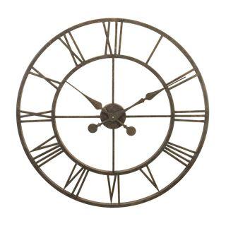 River City Clocks Indoor Antiqued Metal Skeleton Tower 30 in. Wall Clock   Wall Clocks