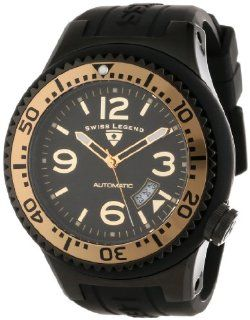 Swiss Legend Men's 11819A BB 01 GB W Neptune Automatic Black Dial Black Silicone Watch at  Men's Watch store.