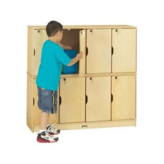 Jonti Craft Stacking Lockable Lockers   8 Sections   Double Stack   Toy Storage