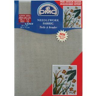 DMC DC28L 842 Aida Linen Needlework Fabric, 20 by 30 Inch, Beige, 14 Count