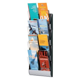Maxi System 4 Pocket Pamphlet Wall Display   Commercial Magazine Racks