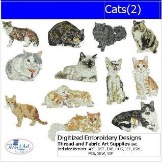 Digitized Embroidery Designs   Cats(2)   CD