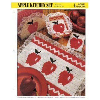 Apple Kitchen Set (Plastic Canvas) (#4 Home Decor): Kenneth Cormier: Books