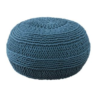 Rizzy Home Roped Cotton Pouf   Ottomans