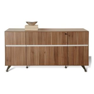 Jesper 300 Collection Storage Credenza   Walnut   File Cabinets