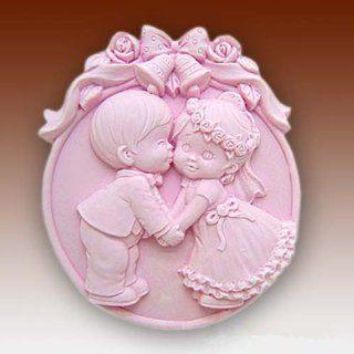 Wedding Kiss 50197 Craft Art Silicone Soap mold Craft Molds DIY Handmade soap molds