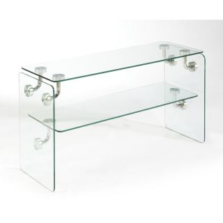 Magnussen Clarion Glass Rectangular Sofa Table   Console Tables