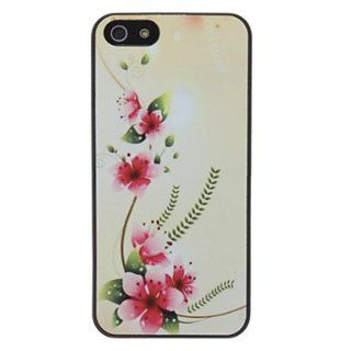 Beautiful Flower Pattern Diamond Look PC Hard Case with Matte Back Cover for iPhone 5/5S  Cell Phone Carrying Cases  Sports & Outdoors
