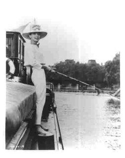 Photo Actress Audrey Hepburn Fishing   Photographs