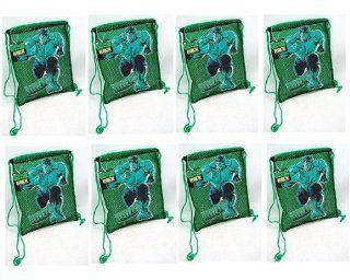 "Avengers Super Hero Incredible Hulk Set of 8 Birthday Party Favor Hulk 12"" Net Backpack Tote Bags Toys & Games"