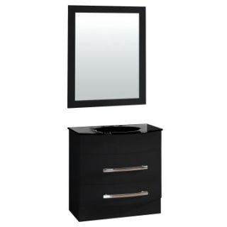 Yosemite Home Decor 31.5 in. Single Bathroom Vanity Set   Black   Single Sink Bathroom Vanities