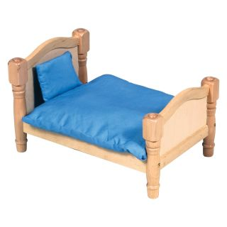 Guidecraft Doll Bed   Natural   Baby Doll Furniture