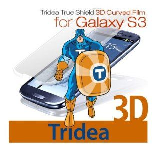 [Tridea True Shield] Samsung Galaxy S3 3D Curved Screen Protector for [Sprint At&t T Mobile Verizon US Cellular Unlocked i9300 3G GSM] Cover Film: Cell Phones & Accessories