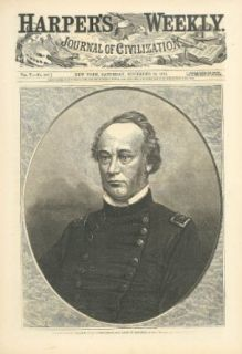 General Henry Halleck Missouri Troop Commander Harper's Weekly page 11/30 1861: Entertainment Collectibles