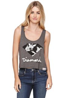 Womens Diamond Supply Co Tees & Tanks   Diamond Supply Co Floral Tank
