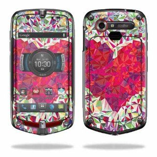 MightySkins Protective Vinyl Skin Decal Cover for Casio G'zOne Commando 4G LTE C811 GZ1 Verizon Cell Phone Sticker Skins Stained Heart: Electronics