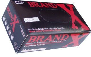 Brand X Black Latex Gloves, Extra Small Health & Personal Care