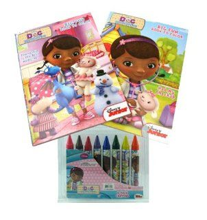 Doc McStuffins Big Fun Coloring Book and Crayon Set   2 Coloring / Activity Books, 8 Jumbo Crayons: Toys & Games