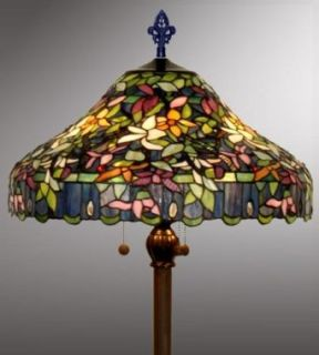 Tiffany Style Stained Glass Floor Lamp   VL120