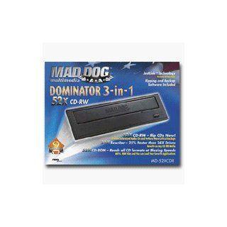 "MAD DOG DOMINATOR MD 52XCDR   CD RW drive   internal   52x24x52x   5.25""   IDE Computers & Accessories"