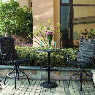 Darlee Victoria 2 person Resin Wicker Patio Bar Set   Espresso  Outdoor And Patio Furniture Sets  Patio, Lawn & Garden